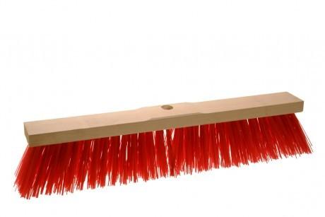 Straßenbesen Elaston Sattelholz mit Stielloch rot