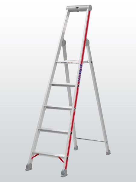 Stufenstehleiter mit Plattform, einseitig begehbar