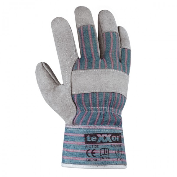 teXXor® Rindkernspaltleder-Handschuhe TAUNUS