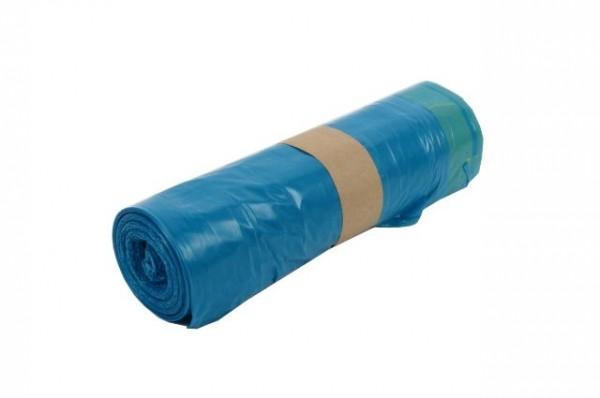 LDPE Zugband-Müllsäcke, 120 Liter blau 34µ