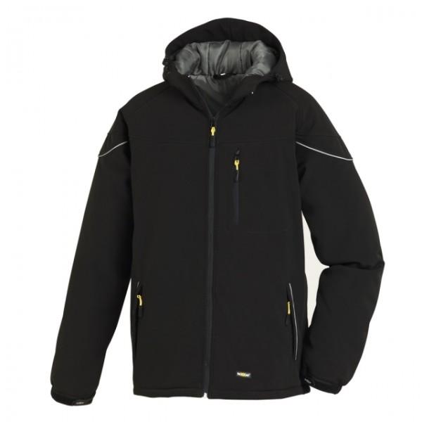 teXXor® Winter-Softshell-Jacke VAIL mit Reflexstreifen schwarz
