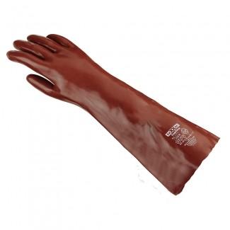 teXXor® Chemikalienschutzhandschuhe PVC rotbraun Länge 60 cm Gr. 10
