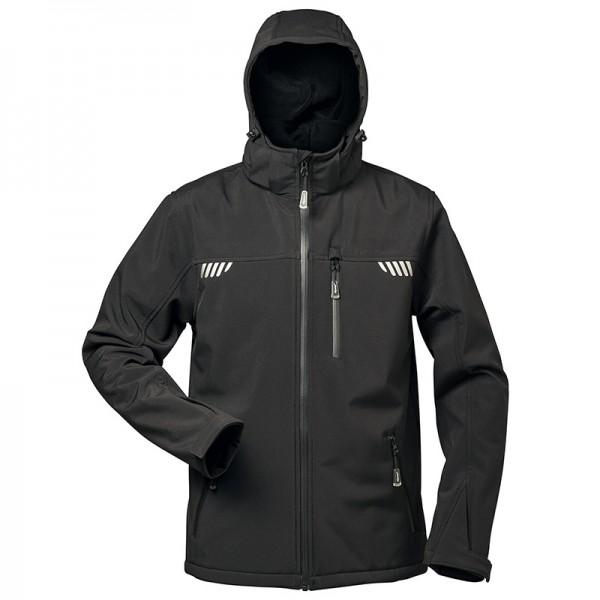 elysee® Softshell-Jacke PLUTOS mit Fell schwarz (Auslaufartikel)