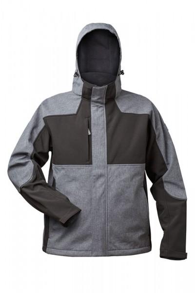 elysee® Softshell-Jacke TAU grau/schwarz