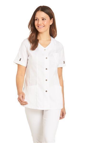Damen-Hosenkasack 1/2 Arm 08/2573-01 weiß (Auslaufmodell)