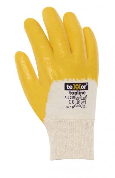 teXXor® Nitril-Handschuhe STRICKBUND, 3/4 beschichtet