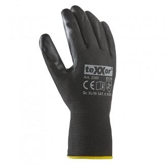teXXor® Nitril-Handschuhe Polyester schwarz