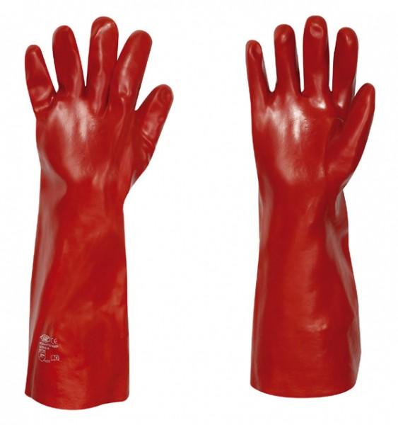 stronghand® Handschuhe COLUMBIA Vinyl beschichtet rot Gr. 10