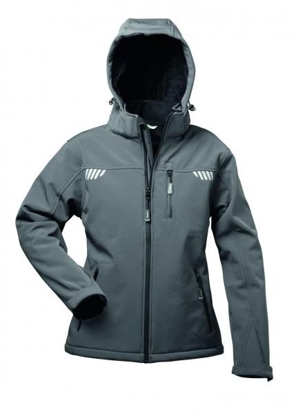 Softshell-Jacke HESTIA mit Fell, grau/schwarz (Auslaufmodell)