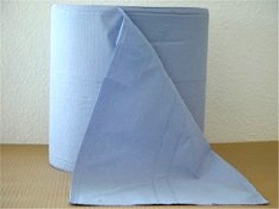 Reinigungspapierrollen blau lagenverleimt-volumengeprägt, 3-lagig, 500 Abrisse