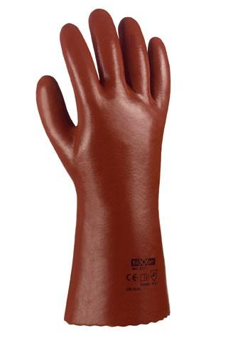 PVC-Handschuhe, rotbraun, Länge 35 cm Gr. 10, VPE 120 Paar