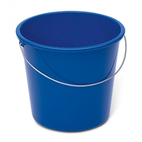 Haushaltseimer, blau, 10 Liter, Kunststoff mit Metallbügel