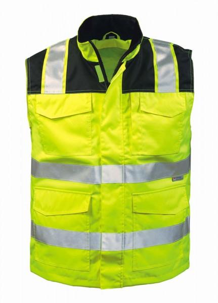 elysee® Warnschutz Weste GREGOR gelb, schwarz abgesetz