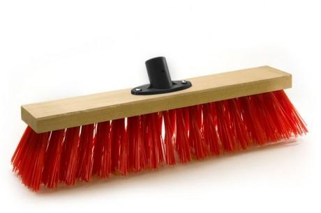 Straßenbesen Elaston mit Quick-fest-Halter rot