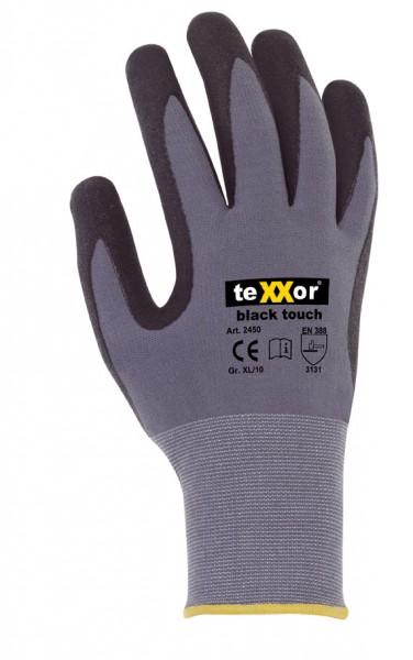 teXXor® Montagehandschuhe BLACK TOUCH® Nitril beschichtet