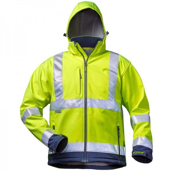 elysee® Warnschutz Softshell-Jacke LIAM leuchtgelb