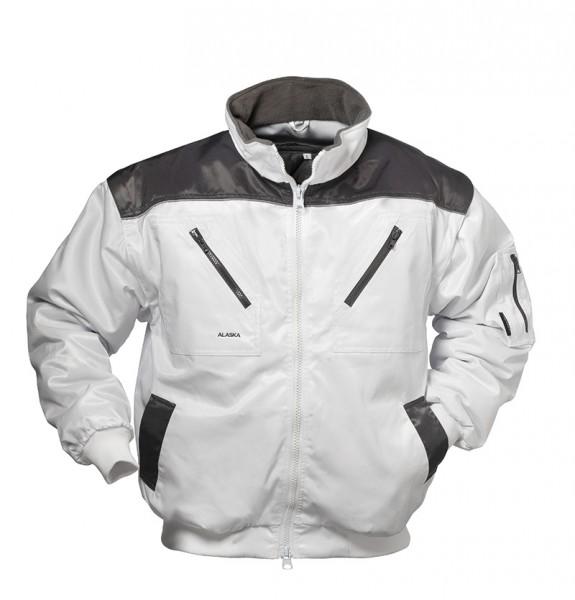 Alaska-Pilotenjacke HOLLIS weiß/grau