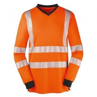 4Protect® Warnschutz T-Shirt langarm JACKSONVILLE