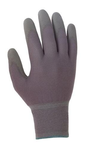 teXXor® Polyester-Strickhandschuhe Polyurethan beschichtet grau